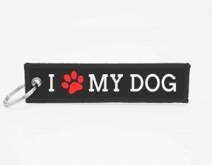 Dog Schluesselanhaenger mit logo