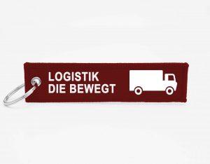 Logistik Schluesselanhaenger mit logo