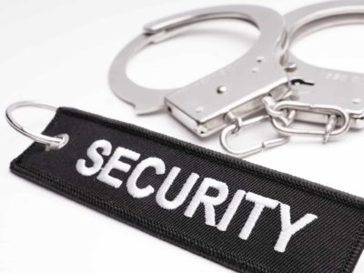 Security Schluesselanhaenger Schwarz Weiss