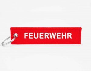 FEUERWEHR Schlüsselanhänger rückseitig mit Logo