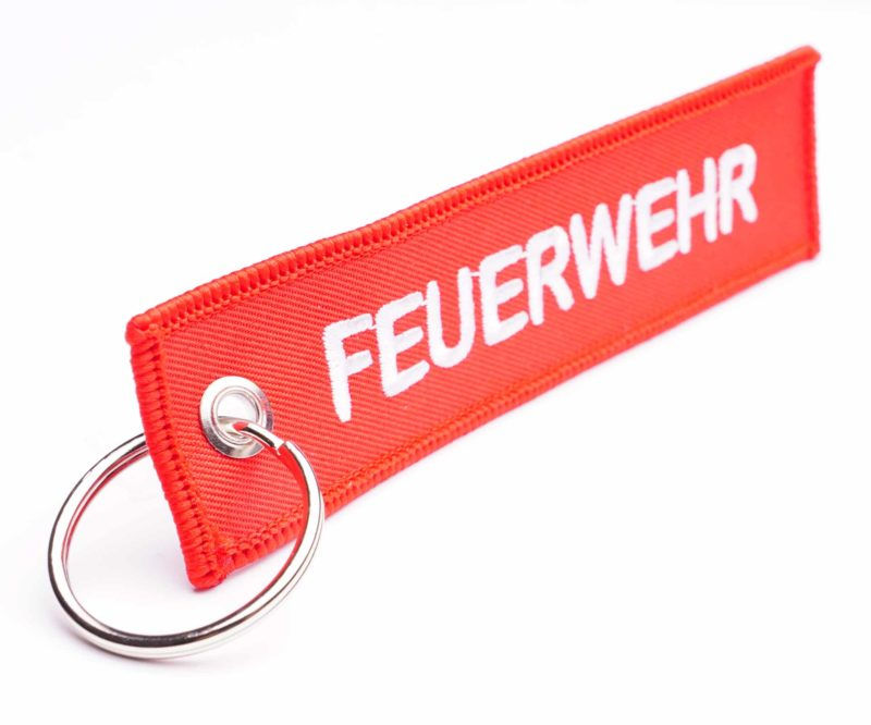 Textiler Feuerwehr Schlüsselanhänger