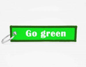 Green Schluesselanhaenger mit logo