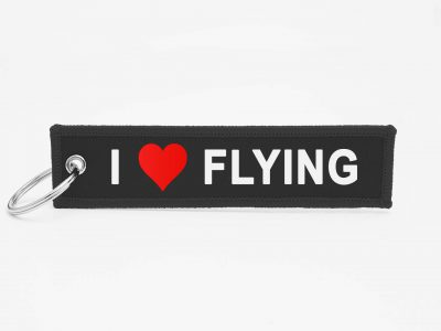 I LOVE FLYING Schlüsselanhänger individuell mit Logo