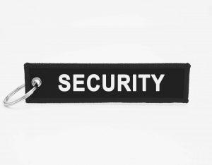 Security Schluesselanhaenger mit logo