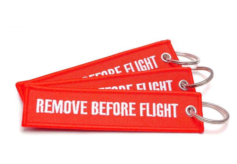 3er-Set REMOVE BEFORE FLIGHT Schlüsselanhänger