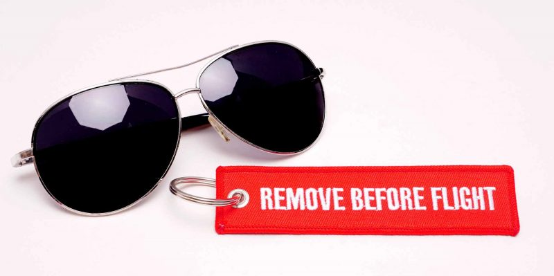 Remove before flight Pilotenbrille