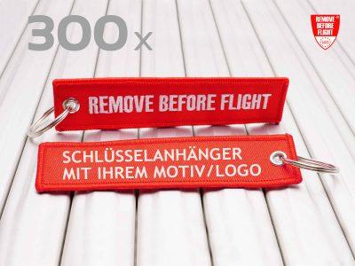 remove before flight schluesselanhaenger individuell mit Logo 300 Stück