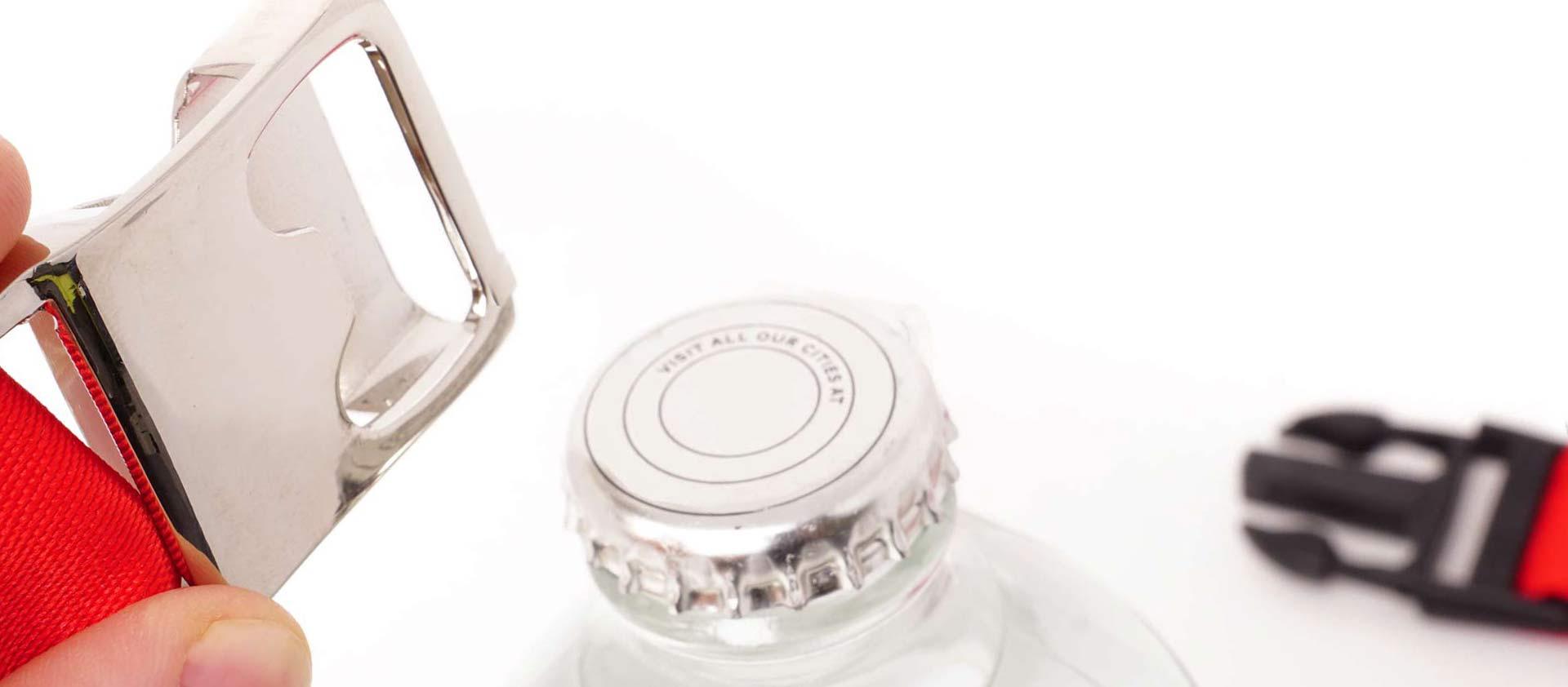 individuelles schluesselband mit Flaschenoeffner