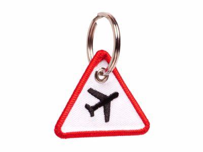 Achtung Flugzeuge Schluesselanhaenger Verkehrsschild haengender-Verkehrsschild-haengend