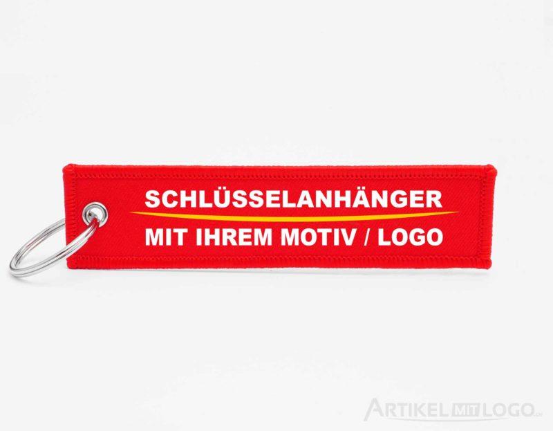 artikel-mit-logo.de individuelle Schlüsselanhänger rot
