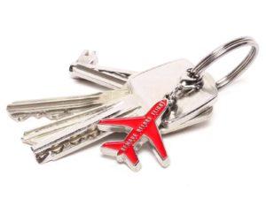 Metall Schlüsselanhänger am Schlüselbund