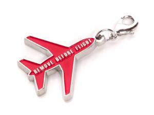 Metall Schlüsselanhänger Flugzeugform