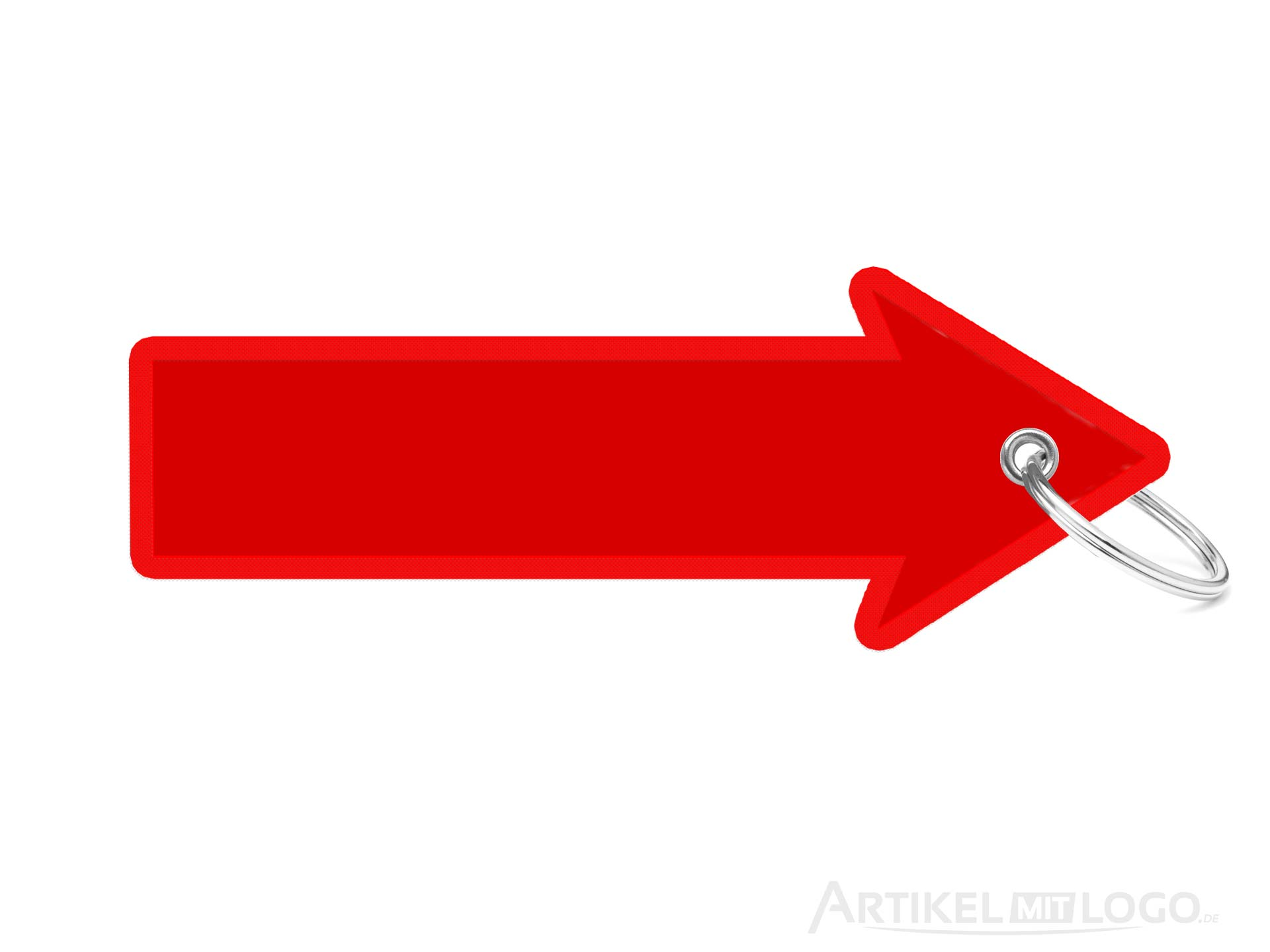 Pfeil-Form spitzer Schluesselanhaenger rot